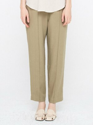 5 Button Linen Trousers_Khaki