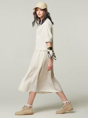 Tailored collar - shirts dress #Ivory