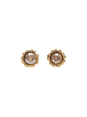 Lover Mini Circle Crystal Earrings