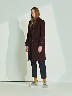 DOUBLE BUTTON SLEEVE WOOL COAT_BU