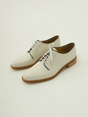 PLAIN TOE DERBY (화이트)
