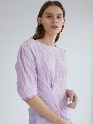 Puff Wrinkle Blouse - Pink