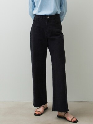 Comfy Denim Pants - Deep Grey