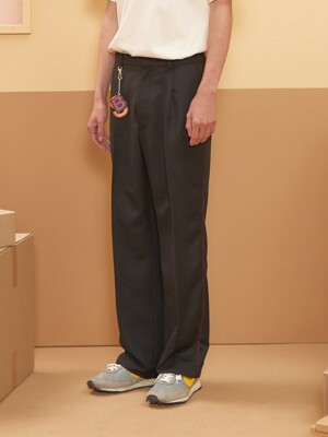 Melo Wide Slacks (Black)
