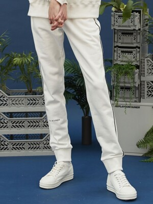 recon piping jogger pants (ivory)