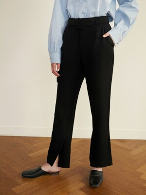 monts 963 bottom slit slacks (black)