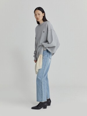 ASYMMETRIC CUT-OUT SWEATSHIRT (GREY)