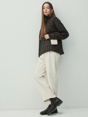 BLACK mix crew neck knit (KT033)