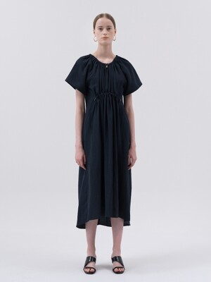 SS20 Drawstring Dress Navy
