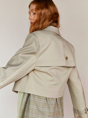 SHORT TRENCH JACKET(BEIGE)