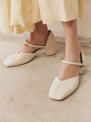 [EXCLUSIVE] may pumps - ivory