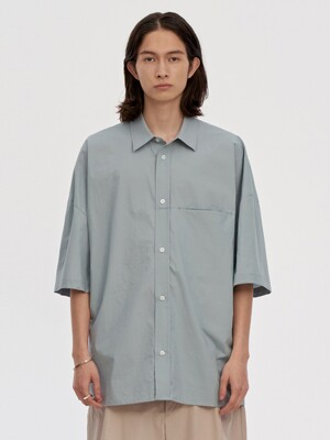 OVERSIZED BOX SHIRTS MEN [LIGHT BLUE]