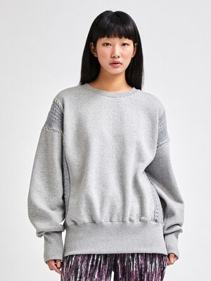 LOUNGE CREWNECK SWEAT SHIRTS GRAY