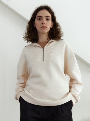 21S SAILOR ZIP-UP SWEATSHIRTS (PALE CREAM)