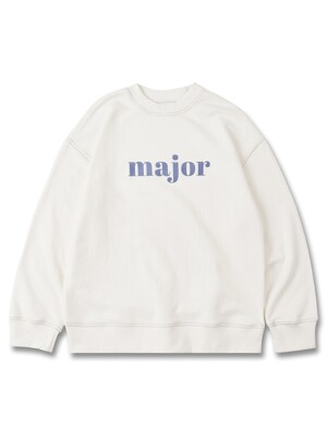 MAJOR STITCH SWEATSHIRT WH