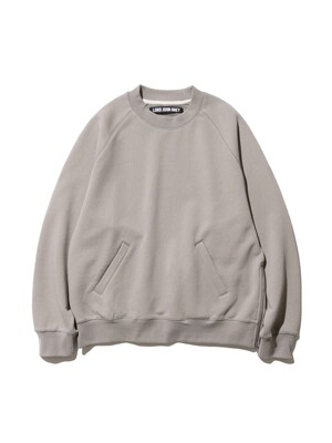 side zip sweatshirts warm grey