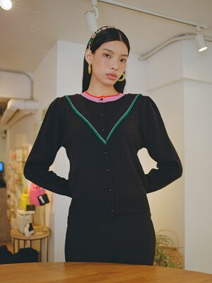 SAERA CARDIGAN - BLACK