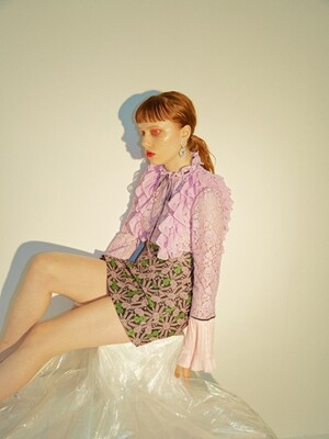 Lace Frill Blouse [Lilac]