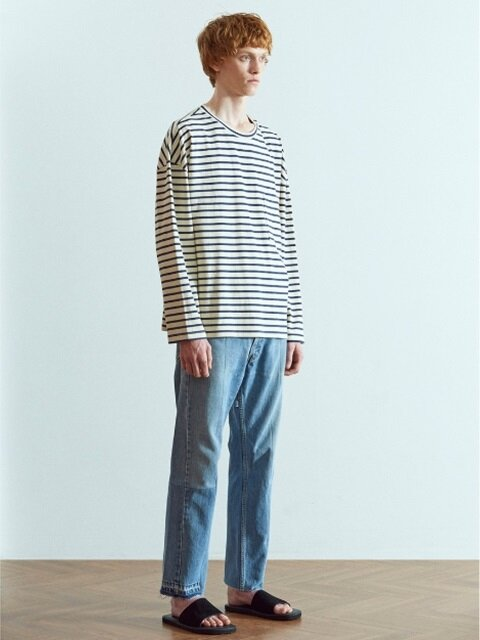 Oversized Stripe T-Shirts Ivory