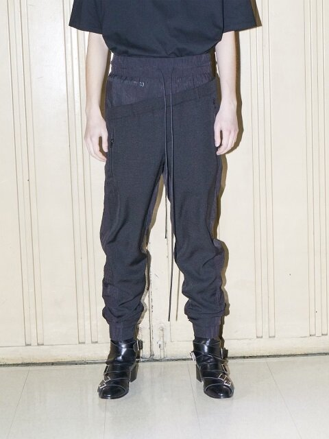 SHIRRING DETAIL TRACK PANTS