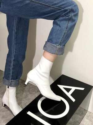 UV SLIM ANKLE BOOTS 5 M-IG-180902 WHITE