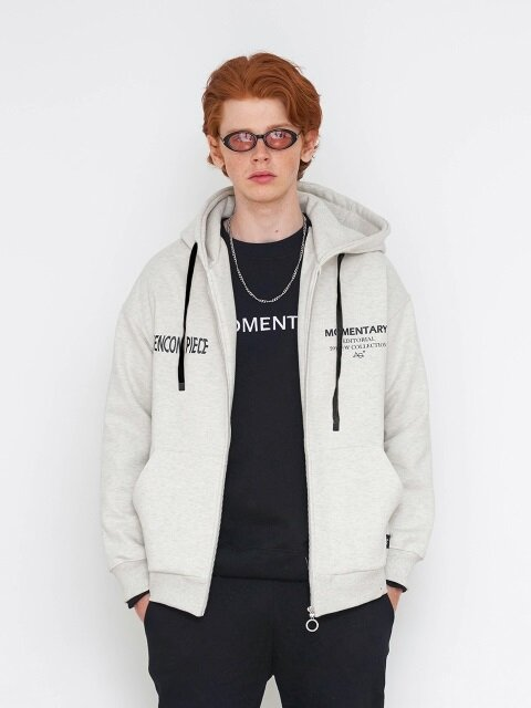 AG POINT HOODIE ZIP-UP_GY