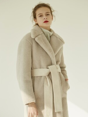 [EXCLUSIVE] 18FW REAL WOOL SHEARING LONG COAT _ 2COLOR
