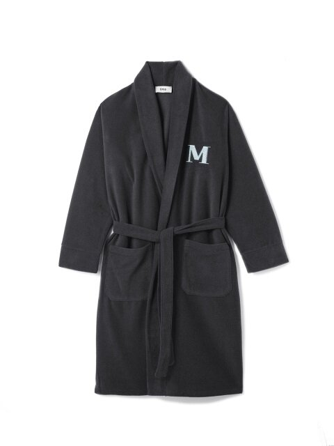 DARK GRAY FLEECE ROBE