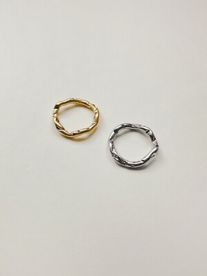 Rough slim Ring (1+1)