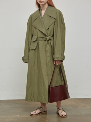 19SS POCKET BELT TRENCH COAT - KHAKI