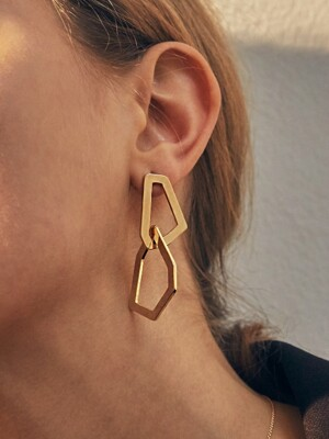 trapezoidal `drop` earring