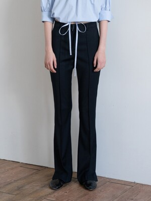 19FW SLIT-CUFF TROUSERS (BLACK)