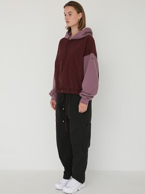 MIX ANORAK HOOD - PURPLE