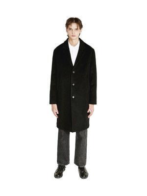 SINGLE CHESTERFIELD COAT black