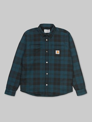 PULFORD SHIRT JACKET_PULFORD CHECK/DUCK BLUE