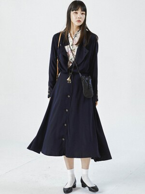 TRENCH NAVY DRESS
