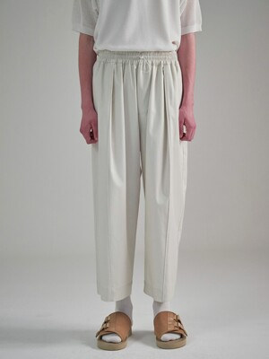 Wide Pintuck Pants_Ivory