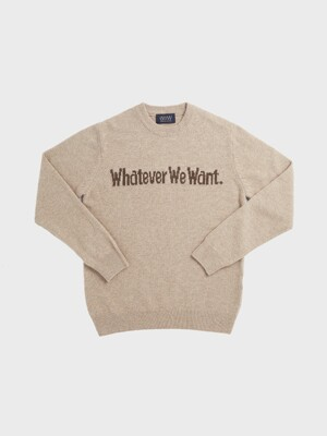 WHATEVERWEWANT CASHMERE KNIT [BEIGE]