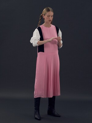 [EXCLUSIVE] Colourway pleats dress - Pink