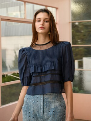 Tiered Ruffle Crop Blouse