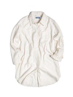 (W) Casper Night Shirt Flannel Creme