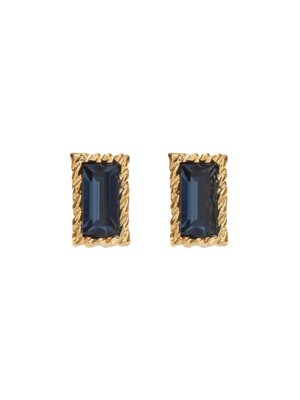 Lover Square Crystal Earrings