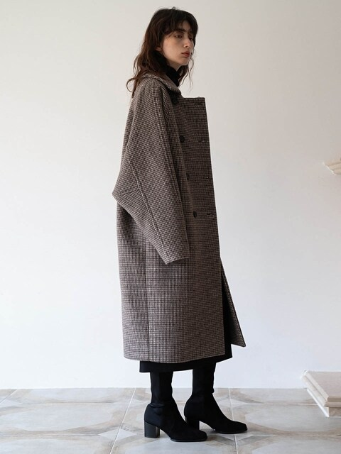 [단독] WIDE SLEEVE COAT - BROWN