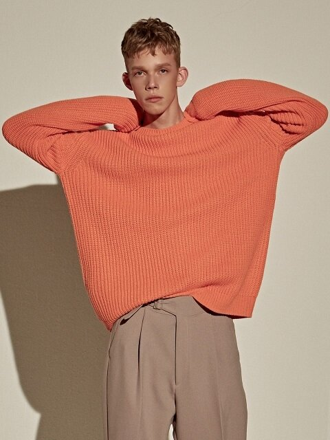 DROP OVER EASY SWEATER_ORANGE