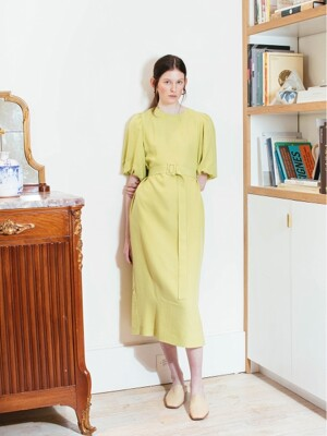 SOHO short balloon sleeve dress (Lime)