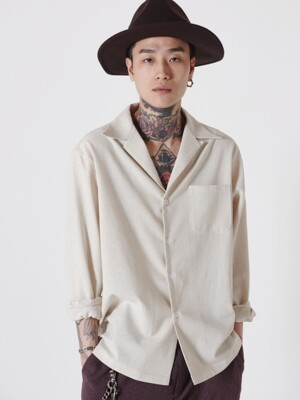 19ss Basic Open Collar Shirts (Ivory)