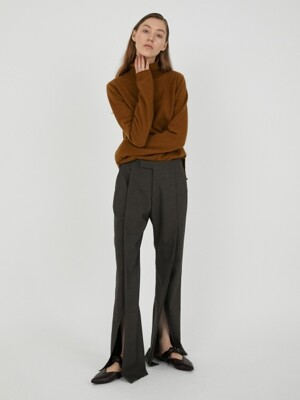 SLIT BELL TROUSER [BROWN]