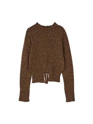 Opening ribbon knit - Brown