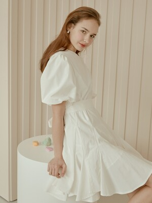 adorable pleats dress[white]