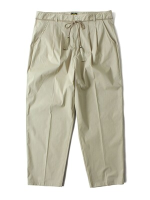 TWO-TUCK POTTERY PANTS [Beige]